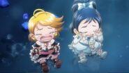 Chibi Cure Black y Chibi Cure White