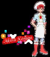 Perfil de Akira como pastelera (TV Asahi)