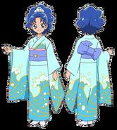 Perfiles de Aoi con yukata