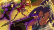 Pretty Cure vs Ira y Marmo potenciados