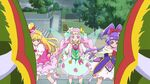Felice stands there as Miracle and Magical start fighting the Donyokubaru