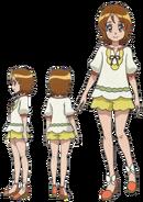 Perfiles de Yuko con su atuendo de verano