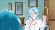 Blue supporting Megumi and Yuko