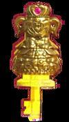 Llave vestir dorada