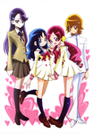 Futago Kamikita All Precure Illustration Heartcatch 1