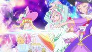 Mahou Tsukai apunto de lanzar el arcoiris
