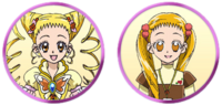 Yes! Pretty Cure 5 GoGo! Urara and Cure Lemonade faces