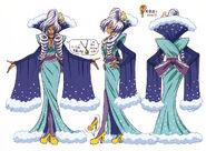 Bocetos de perfiles de Mizushitatare