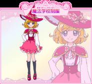 Mirai Asahina con su uniforme de bruja