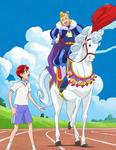 KKPCALM25-100m race, Akira vs. prince Nata's horse