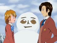Naguisa y fujip muñeco de nieve