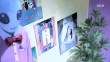 STPC12 Posters of Abraham's works on Hikaru's wall