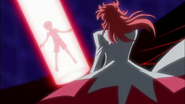 Kumojaki tomando la Flor Corazón de Hayashi