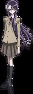 Perfil frontal de Yuri con su uniforme