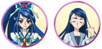 Yes! Pretty Cure 5 GoGo! Karen and Cure Aqua faces