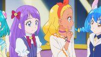 STPC29 Madoka, Elena and Yuni speak amongst each other
