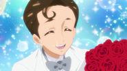 4. Kimimaro entregandoles unas rosas a Minami