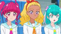 STPC16 Hikaru, Elena and Lala are amazed by Yumika's accuracy