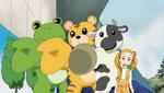 YPC512 Animals welcoming Nozomi