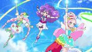 Equipo de Pretty Cures que son hadas