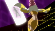 Sasorina tomando la Flor Corazón de Karin