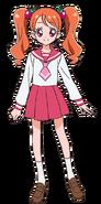Perfil de Ichika Usami con su uniforme escolar