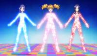 Love, Miki and Setsuna Beat Up