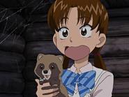 Rina con mapache