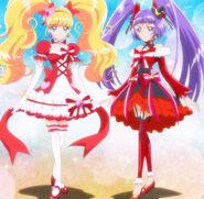 Cure Miracle y Magical en su estilo Rubi