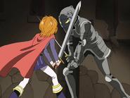 Nagisa choca espada con zakenna