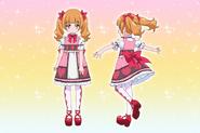 Perfiles de Emiru con su atuendo casual (Toei Animation)