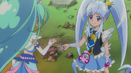 Princess dandole la Llave Primavera a Mermaid