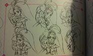 Bocetos Rostros de Cure Mermaid