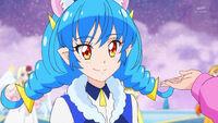 STPC39 Yuni smiles at Hikaru