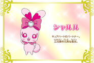 Cartel de Sharuru en Pretty Cure All Stars New Stage 3