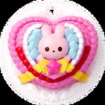 Pastel Corazón de Conejo
