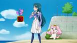 Aroma telling Minami how to transform