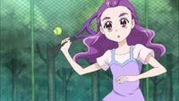 Kurumi plays tennis