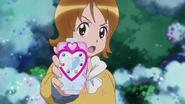 Yuko a momentos de transformarse