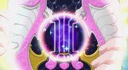 Heart tocando la magica arpa encantadora para atacar