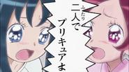 Tsubomi y Erika interpretando una escena