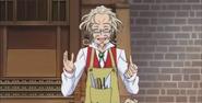 Otokichi diciendo que el compas sigue la pista