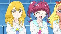 STPC16 Sakurako and Hikaru applaud Madoka's win