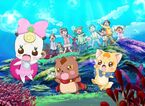 The Child meets Mascots using Miracle Dream Light