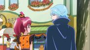 Megumi y Blue hablando