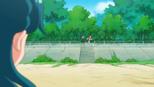 Minami watches Haruka jog