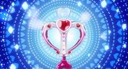 Love heart arrtow con diamond