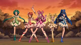 Precure 5 pose in episode 2