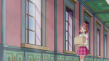Haruka carry a box of decorations