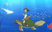 Nao as Urashima Taro in the movie